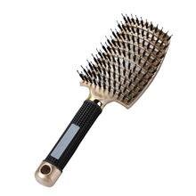 Массажная расческа для волос и кожи головы, щетка для волос, нейлоновая Женская щетка для снятия влажных и вьющихся волос, щетка для салона, ...
