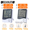LCD Electronic Digital Temperature Humidity Meter Thermometer Hygrometer Indoor Outdoor Weather Station Clock HTC-1 HTC-2