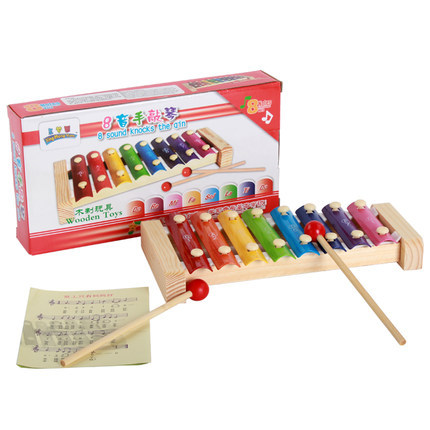 Infants Wooden Octave Thick Quality-Toy Piano 1-2-5 Years Old Baby Wood Music Toy 0.4