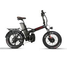 Bafang – vélo électrique pliant 48v, 4.0 w, moteur TFT LCD, pneus neige, batterie au lithium