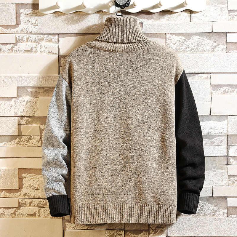 새로운 남성 스웨터 겨울 터틀넥 풀오버 패션 디자이너 스웨터 남성 긴 소매 스웨터 Ropa De Hombre 2019 Plus Size 5X