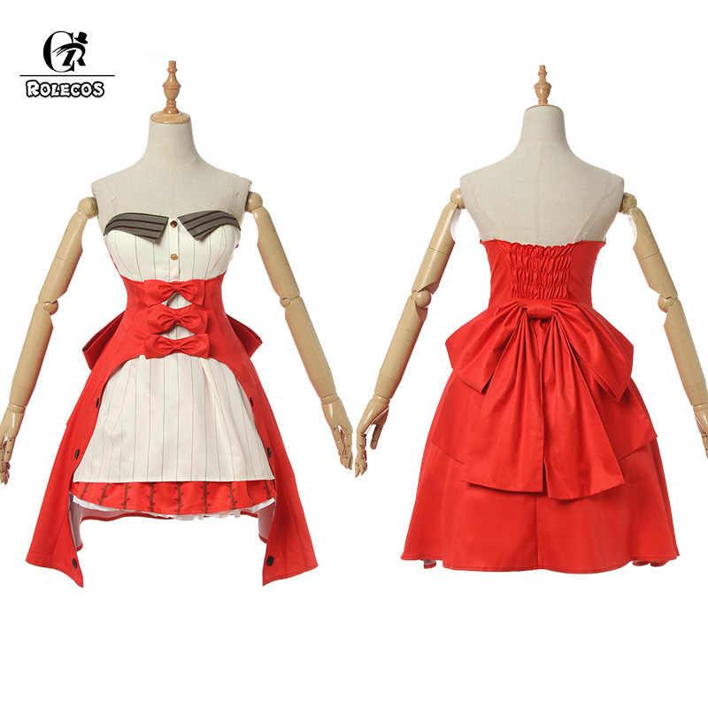 ROLECOS oyun kader/Grand sipariş Cosplay kostüm tekeri Marie Antoinette kadınlar kırmızı noel Cosplay kostüm küçük kırmızı başlıklı kız