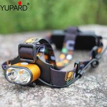 Светодиодный налобный фонарь yupard t6 2 * xm l два ярких светодиода
