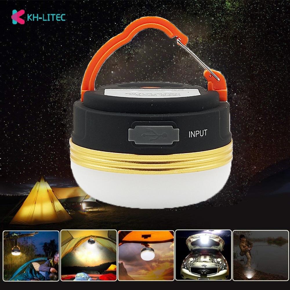 Khlitec mini portátil luzes de acampamento 3 w led acampamento lanterna tendas lâmpada ao ar livre caminhadas noite lâmpada pendurada usb recarregável