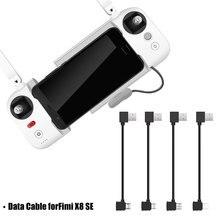 עבור FIMI X8 SE כבל מרחוק בקר נתונים כבל עבור IOS מיקרו USB Postive הפוך סוג C טעינת קו עבור fimi X8 se 2020