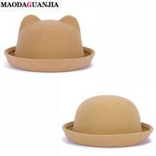 Новейшая модная шерстяная фетровая шляпа с бантом для родителей