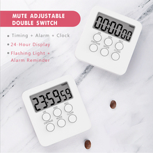 Timer-Clock Studying Alarm Classroom Cooking-Countdown Magnetic Digital Sports with Lcd-Screen