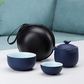High grade Chinese Tea Travel Tea Set Kung Fu TeaSet Ceramic Portable Teapot Porcelain Teaset Gaiwan Tea Cups of Tea Ceremony