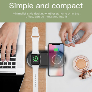 Image 2 - FDGAO 2 in 1 10W Qi Wireless Charger Docking Station Watch Charger Fast Charging Pad For Apple Watch 2/3/4/5 iPhone 11 Pro X Xs