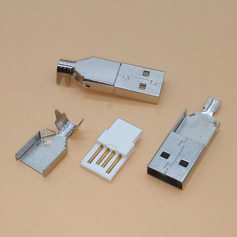 20Pcs USB 2.0 Type A 4 Pin Male Three Types Plug Connector For PC DIY
