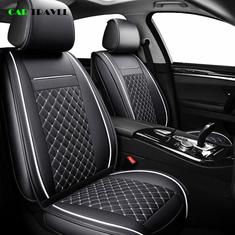 (Frente + Traseira) tampa de assento do carro de luxo de Couro Temporada Para toyota RAV4 4 2017-2013 E120 E130 CH-R 2017 2016 COROLLA carro styling