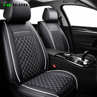 ( Front + Rear ) Luxury Leather car seat cover 4 Season For toyota RAV4 2017 2013 CH R 2017 2016 COROLLA E120 E130 car styling