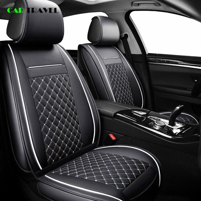 (Frente + traseira) cobertura de assento do carro de couro luxo 4 temporada para toyota rav4 2017 2013 CH R 2017 2016 corolla e120 e130 estilo do carro