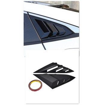 цены H2CNC Auto Car Quarter Rear Side Window Louver Covers For Honda Civic Sedan/4-Door 2016 2017 2018 Durable ABS 2PCS Left Right