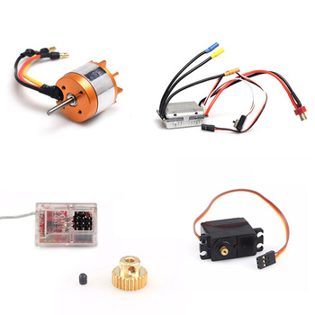 for Feiyue FY07 FY-07 1/12 RC Car Spare Parts Brushless Motor ESC Receiver Servo Motor Gear FY03 FY-03 Upgrade Brushless Version