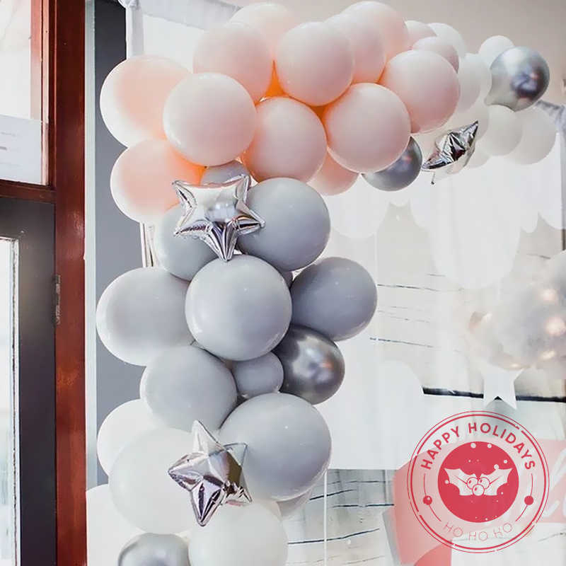 30-50 Pcs/lot Abu-abu Balon Lateks Warna Macarone Putaran 5-36 Inci Inflatable Helium Balon Pesta Ulang Tahun Grosir pihak Bola