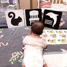 Juguetes Montessori para bebés, tarjetas Flash en blanco y negro, para niños, Flashcards de actividades de aprendizaje, estimulación Visual de alto contraste sensorial