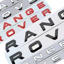 Chrome estilo do carro tronco logotipo letras emblema emblema adesivo capa para range rover sport evoque
