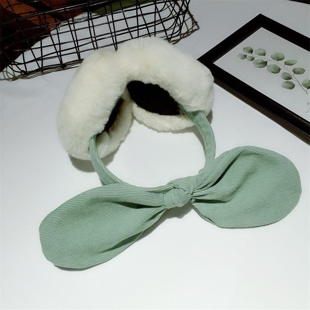 Ear Warmer Women Funny Winter Earmuffs Faux Fur Headband Bow Warmer Plush Party Ear Muffs