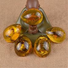 Resin Amber Butterfly Scorpion Crabs Ants Spider Insect Stone Pendant Necklace Hanging Accessories cretaceous very rare fern leaf burmite myanmar amber insect 100 million years lynx stone men women golden jewelry accessory