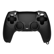 Handle Sleeve Silicone Case Dustproof Skin Anti Slip Protective Cover for Sony PlayStation PS5 Controller Black