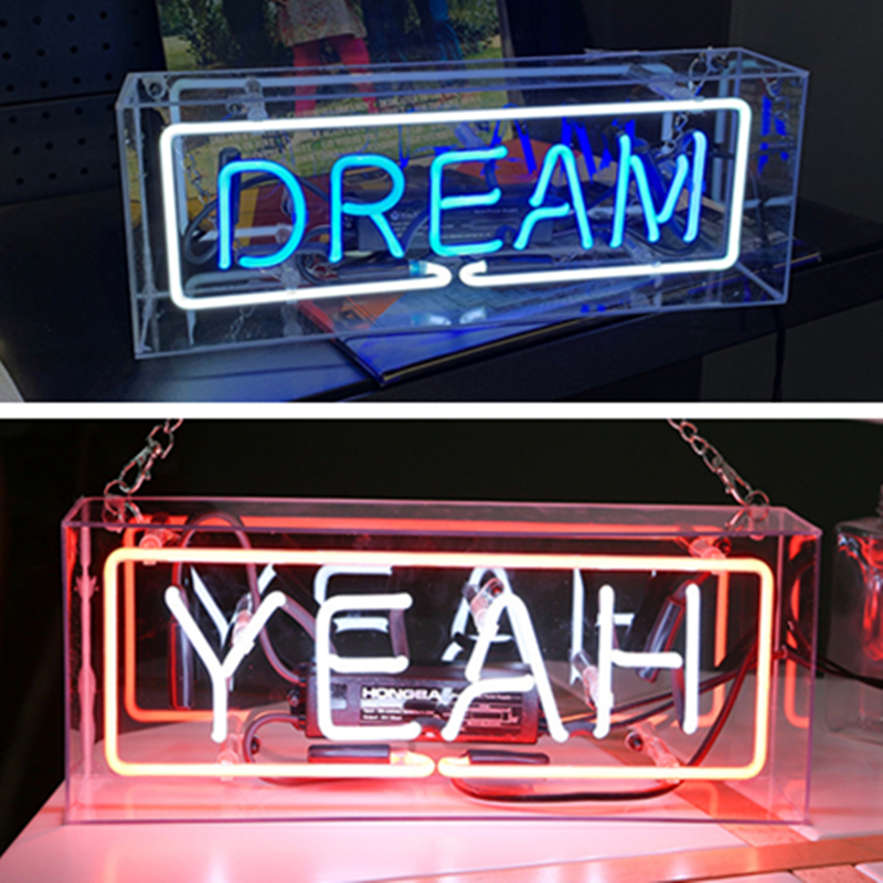 LED Neon Light Box Acrylic Glass Tubes Neon Sign Music Bar Atmosphere Lamp Christmas Holiday Party Art Wall Window Decoration image