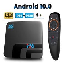 Caixa de tv 6k hd media player de voz assistente caixa de tv android conjunto caixa superior caixa de tv android 10 4gb 64gb 2.4g & 5g wifi android