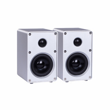 1 pair HIFI Bookshelf Speaker All Aluminum Chassis Speaker HIFI Passive Speaker For Amplifier Audio 3-inch Two-way HIFI Speaker