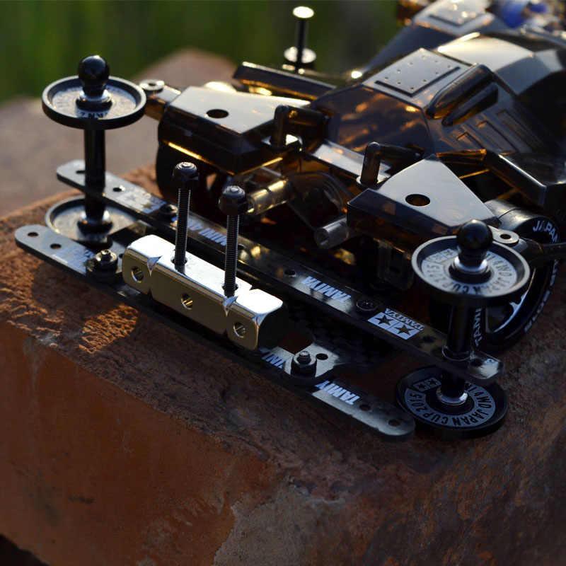 1 Uds RC Tamiya Mini coche de carreras de cuatro ruedas Big Mac FM chasis 19411 juguete de montaje