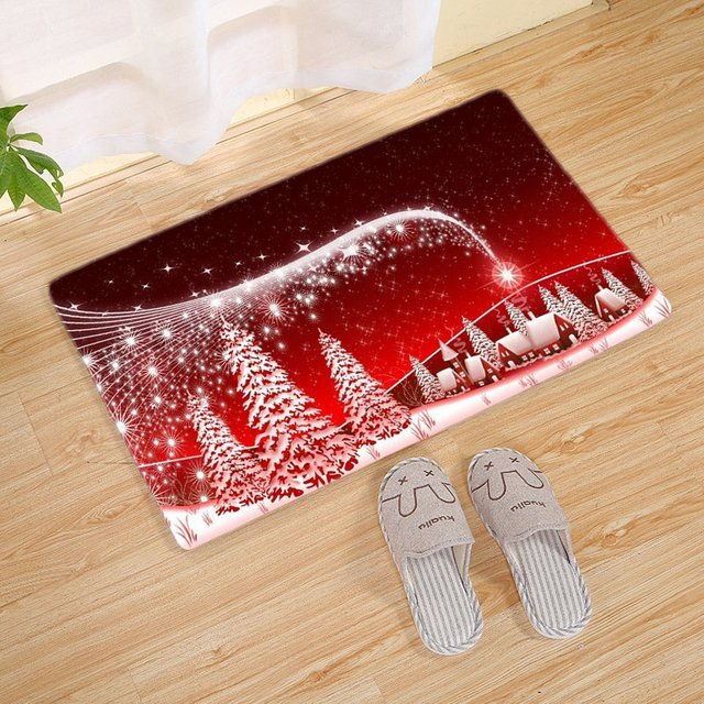 60*40cm Carpet Merry Christmas Decoration for Home Christmas 2019 Ornaments Garland New Year 2020 Noel Santa Claus Xmas Snowman 2