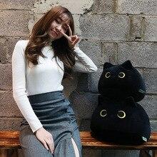 Cat Pillows Dolls Plush-Toys Stuffed Animal Soft-Fat-Cat Black Kids Kawaii for 40-55cm