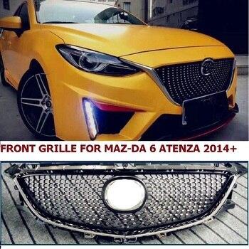 Передняя решетчатая решетка CITYCARAUTO, АБС-пластик, для автомобилей с алмазной звездочкой, подходит для автомобилей MaZ-DA 6 Atenza 2014-2016 с бесплатной...