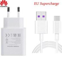 Huawei nova carregador de parede, 5t, 5v, 4.5a, super carregador, usb tipo c, cabo para p20, p30, p40 mate 9 10 20 rs 30 pro honor 20 v10 v20