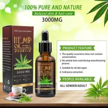 30ml 100% Organic Hemp CBD Oil 3000mg Bio-active Hemp Seeds Oil Extract Drop for Pain Relief Reduce Anxiety Better Sleep Essence