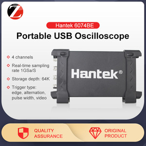 Image 1 - Hantek 6074BE oscyloskopy pamięć cyfrowa oscyloskopy USB do komputera przenośne oscyloskopy 2.0 interfejs 4CH 70MHZ wsparcie WIN10