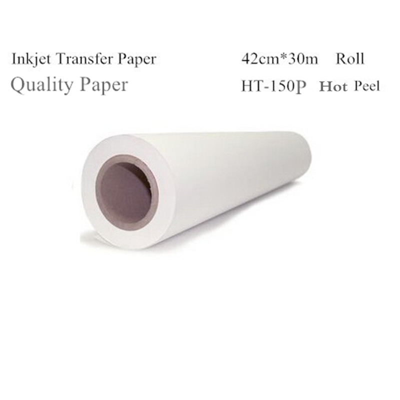 Inkjet Heat Thermal Transfer Printing Paper For T Shirt Clothes Fabric Roll Size 420mm*30m HT-150P