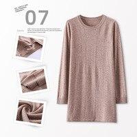 2019 WOMEN'S Dress Autumn And Winter New Style Woollen Sweater 100 Pure Wool Long Crew Neck WOMEN'S Sweater Pullover Base Shirt