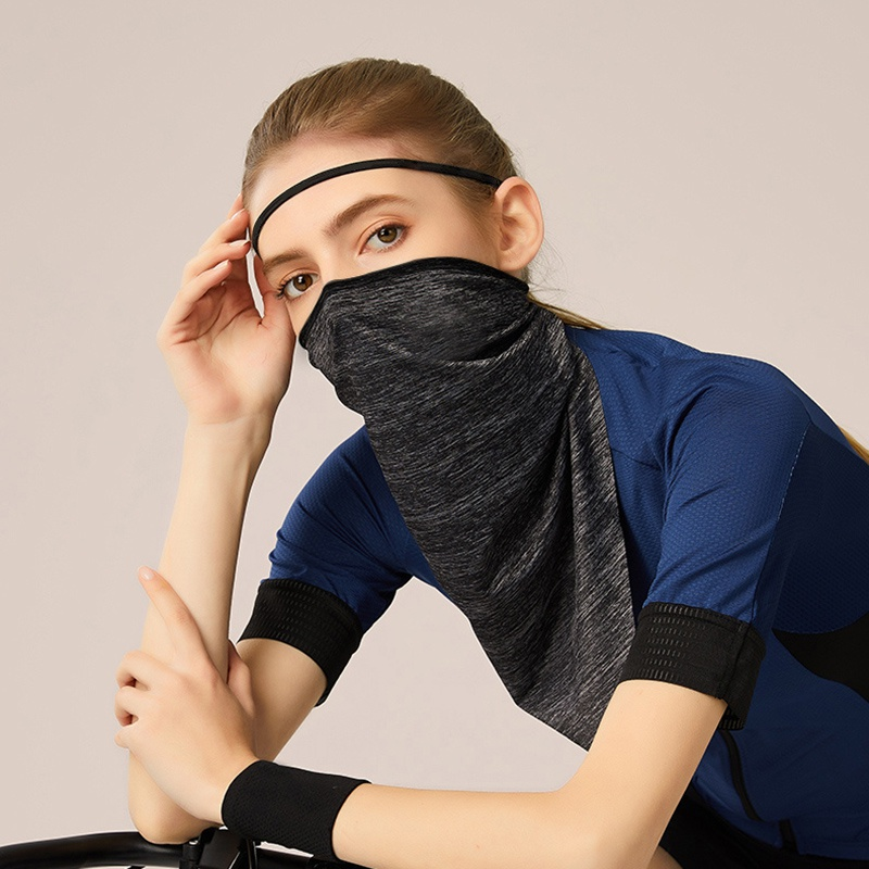 Outdoor Bandanas Suit Summer Anti-sweat Solid Color Unisex Face Cover Breathable Headwear Cycling Sports Scarves 5 Pcs