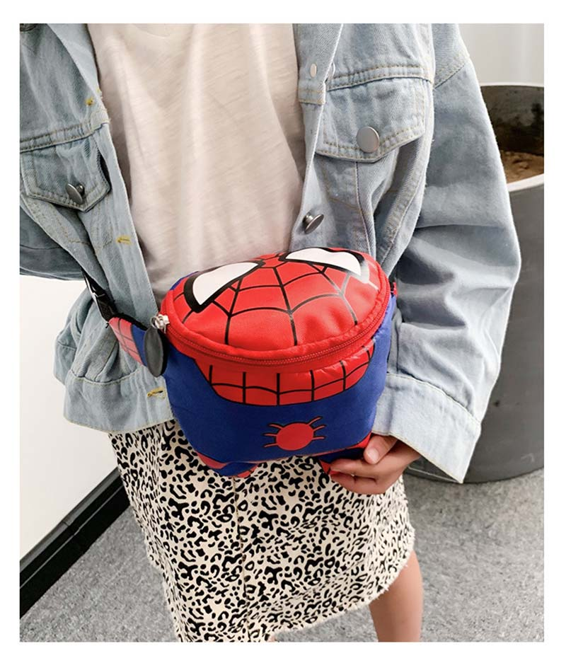 New Spider-Man Waist Bags For Kids Nylon Kids Fanny Pack High Capacity Kidney Women Banana Bag Boy Captain America Shoulder Bags