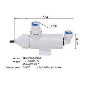 Image 4 - EC sensor  electrode  conductivity electrode conductivity sensor  platinum black conductivity meter  ,Temperature compensati