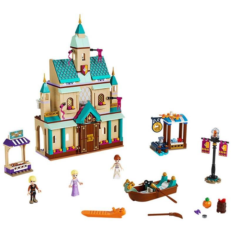 NEW 2019 41167 521Pcs friends girl Series Arendelle Castle Village Building Blocks Bricks Kids DIY Toys Christmas gift | Model Building