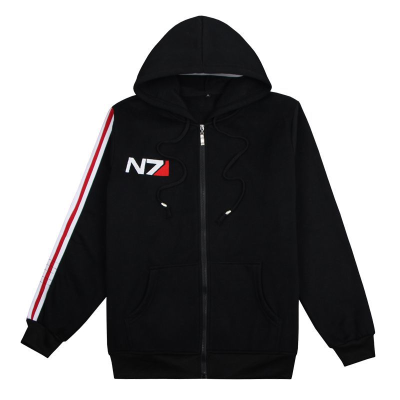 N7 Mass Effect Related Products Hoodie Winter Long Sleeve Plus Velvet Hooded Coat Game Celebrity Style Clothes Men And Women