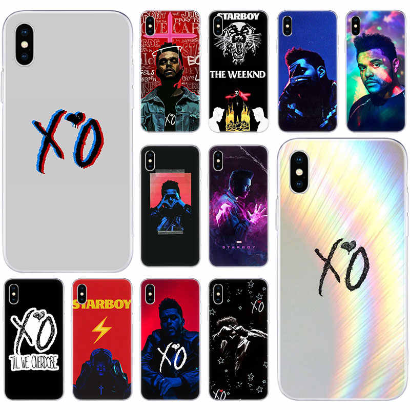 Gorący Starboy The Weeknd XO miękki silikonowy pokrowiec na Apple iPhone 11 Pro XS MAX X XR 7 8 Plus 6 6s Plus 5 5S SE moda okładka
