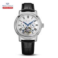 Seagull-Reloj de pulsera para hombre, accesorio masculino de pulsera con mecanismo automático, calendario, multifunción, volante de inercia, de negocios, 2021