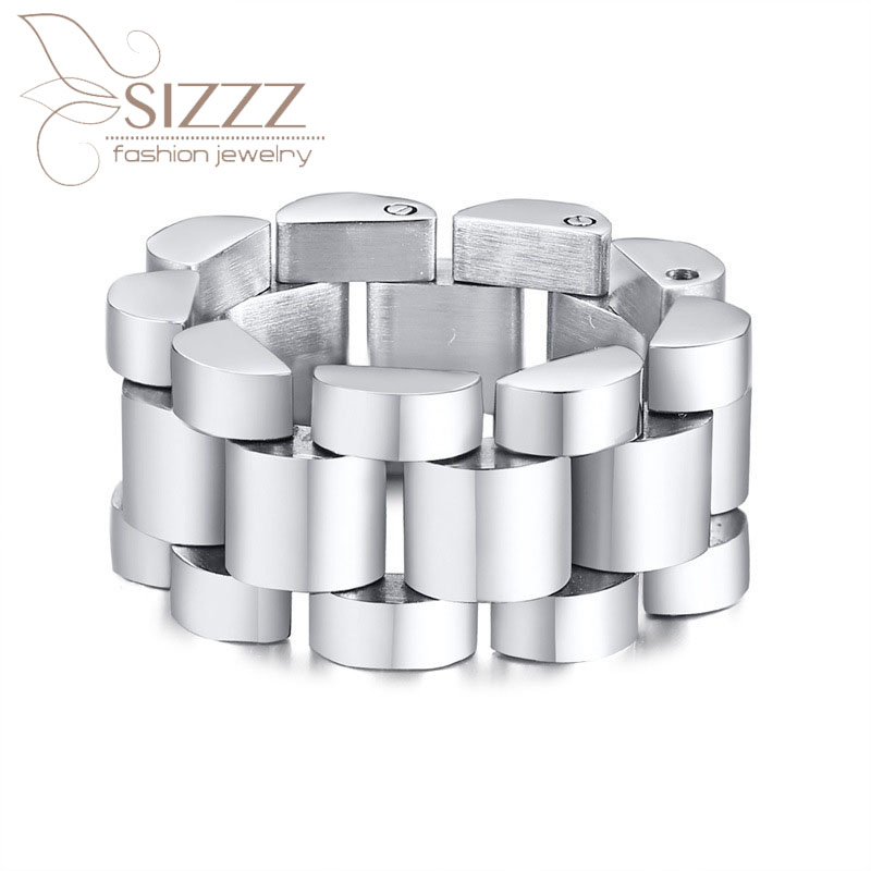 SIZZZ Ring Stainless-Steel Simple-Style Cross-Border Hot-Sales New-Fashion Men