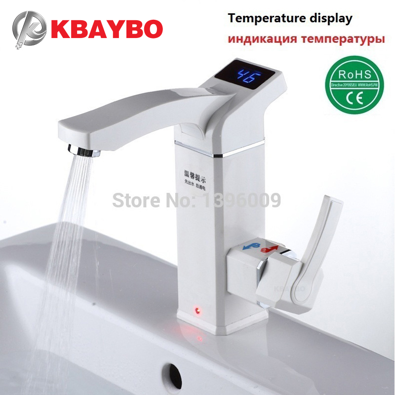 KBAYBO Electric Instant Water Heater Tap Shower Instantaneous Electric Hot Water Faucet Tankless Heating Bathroom Kitchen Faucet