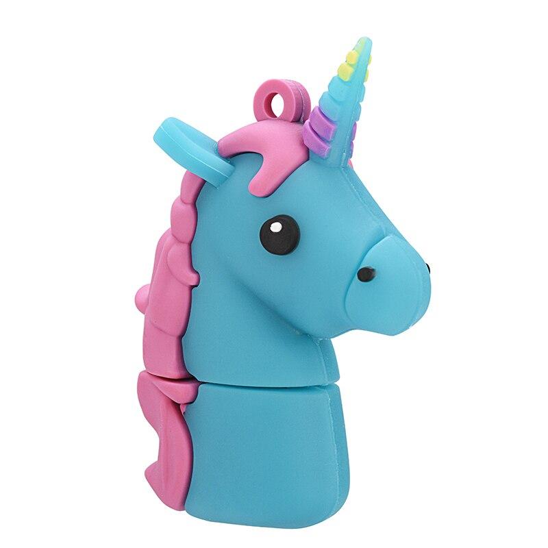 Cartoon Unicorn pendrive usb flash drive 4GB/8GB/16GB/32GB 64GB 128GB USB 2.0 memory stick special fashion gift