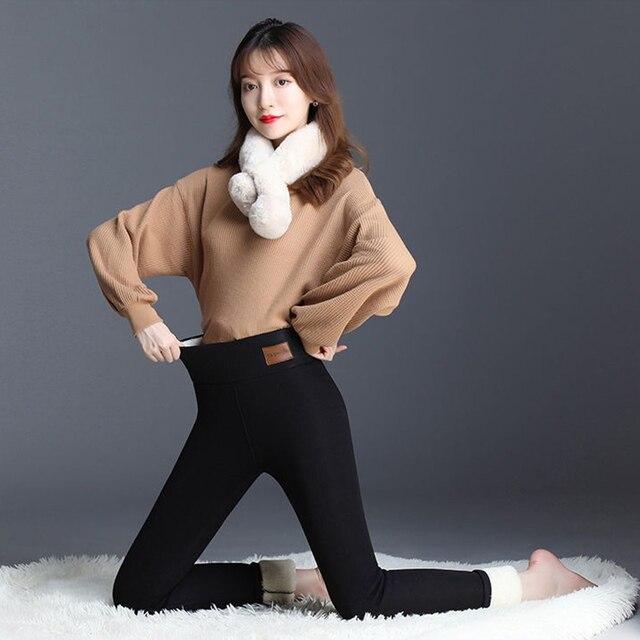 Winter Leggings Women Warm Thick Plus Velvet High Waist Women Leggings Compression Super Stretch Pencil Pant 3