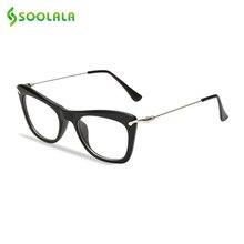 SOOLALA กรอบแว่นตาโลหะแขนอ่านแว่นตา EYE CAT
