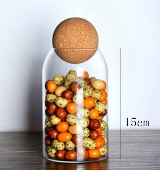 Ball cork lead-free glass jar with lid bottle storage tank sealed tea cans cereals transparent storage jars coffee contains 9